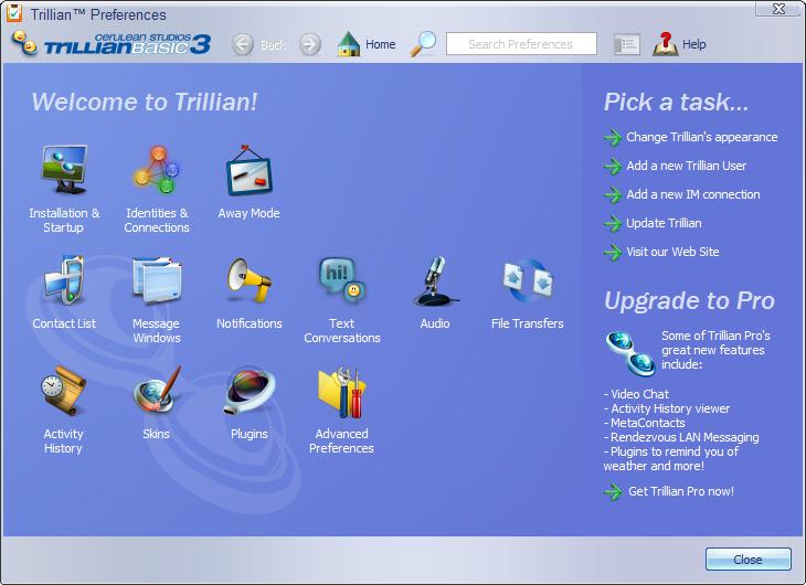 Trillian preferences
