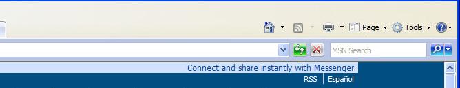 Internet Explorer Toolbar